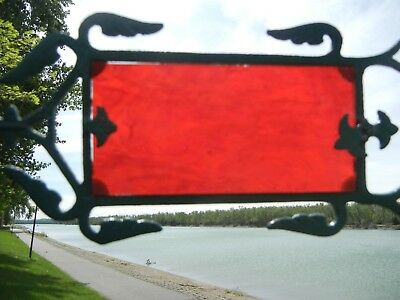 Red Glass Weather Vane Insert Replacement  For Lightning Rod Arrow Tail