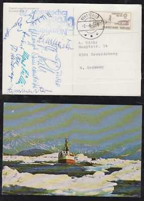 Denmark Greenland 1978 cover NANORTALIK to germany signature of Expedition Nuern