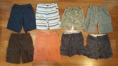 Boy's Shorts lot 8 pieces Size 5T/5. Koala Kids Carter's Kids Corner H&M