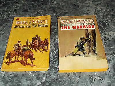 Wade Everett lot of 2 western paperback
