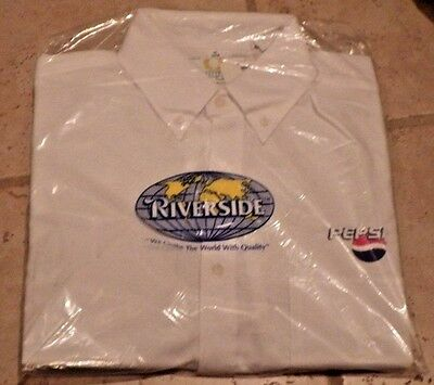 Vintage PEPSI COLA EMPLOYEE UNIFORM SHIRT  NEW In Package L XL~NIP~NOS