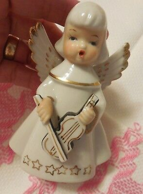 """Vintage Angel Figurine - Chase Hand Painted Made in Japan Ceramic 4.50"""""""