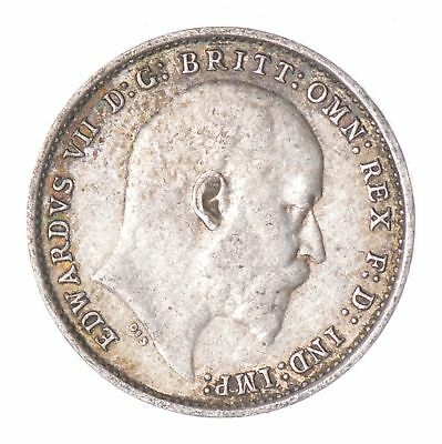 SILVER - 1905 Great Britain 3 Pence - World Silver Coin *085