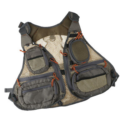 Fly Fishing Vest Mesh Multi-purpose Outdoor Sports Vest Pack Bag Free Size