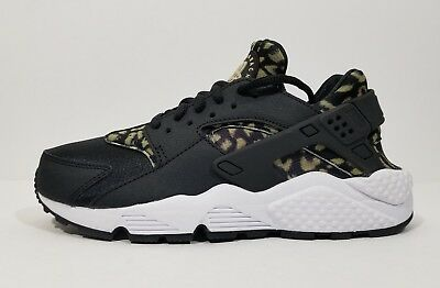 c56c3ceba4a7 Nike Air Huarache Run Womens Cross Training Running Shoes Leopard Black  Size 6.5