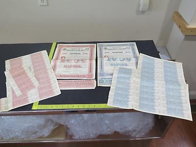 Imperial Russia Russian St.peters Mark Rubel Rouble Antique Stamped Bond Lot Fff