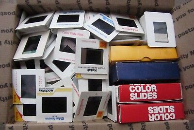 Lot of 1000 vintage photo slides pictures people travel vacation kodak & More 1