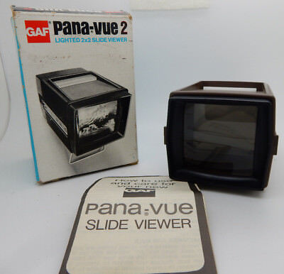 BRAND NEW Vintage GAF Pana-Vue 2 Lighted 2x2 Slide Viewer