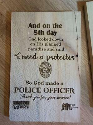 Police Prayer, Officer Prayer, Actual Badge Photo, Law Enforcement, Gift, Sign,
