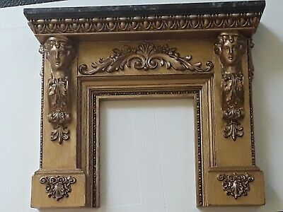 Miniature Fireplace Mantle 1:12 scale Handcrafted Artisan Jim Coates Gilded