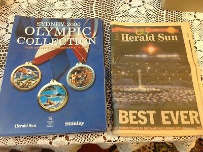 Sydney olympics Herald Sun Newspaper And Folder
