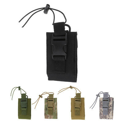 600D Tactical Molle Radio Walkie Talkie Waist Pouch Bag Camo Outdoor Sports