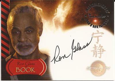 Ron Glass as Book Autograph Card A-9 Serenity Inkworks 2005
