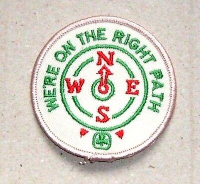 Girl Guide Patch - We're on the Right Patch - N W S E