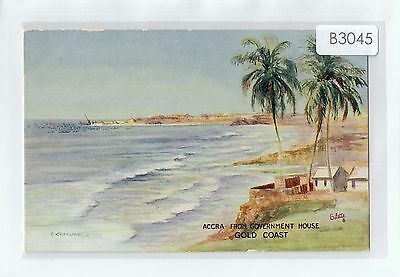 B3045ryt Africa Gold Coast Accra from Government House Artist Tucks vin postcard