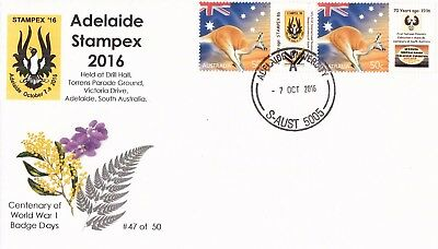 L1332sapc 2016 Adelaide Stampex Supporters Pack only 50 produced (few left)
