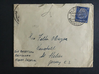 1942 Germany Cover Watenstedt Braunschweig Concentration Camp KZ Jersey England