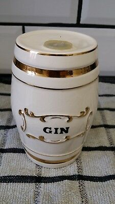 Vintage Crown Devon Ceramic Gin Barrel