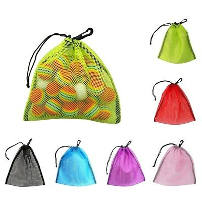 Drawstring Mesh Bag for Golf Tennis Balls Gym Shower Washing Toys Swimming