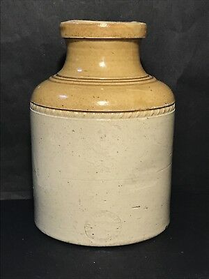 Antique STEPHEN GREEN IMPERIAL POTTERIES LAMBETH Stoneware JAR c1850s Stamped