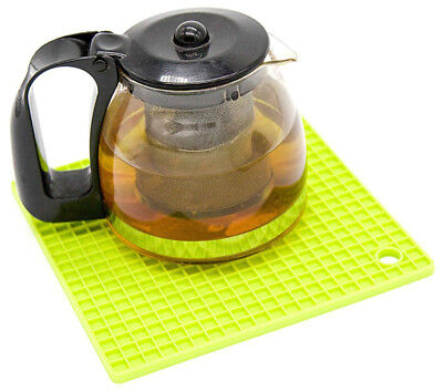 Silicone Heat Resistant Square Pot Trivet Mat 6 colours by Clever Contraptions