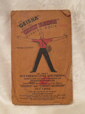 "RARE ""Geisha"" and the ""Cherry Blossom"" Fishing Book : Gut Fishing Lines (1937)"