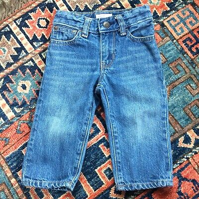 Baby Gap 12-18 Mos. Straight Fit Classic Blue Jeans