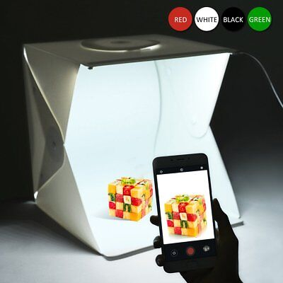 Photo Studio Light Box Photography Backdrop Portable USB LED Mini Lightroom Tent