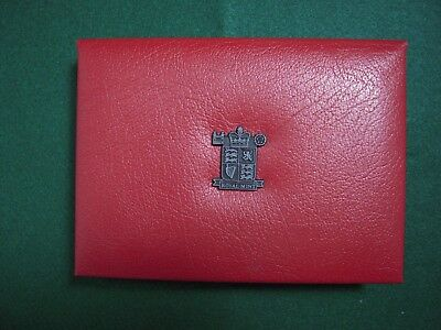 Uk Proof 9 Coin Year Set 1992   With Coa & Mint Box In Deluxe Red Leather Case
