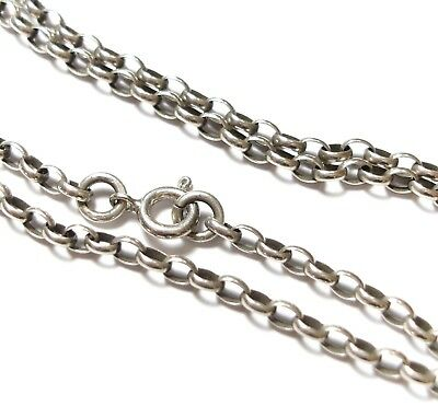 Stunning Vintage Or Modern Silver Belcher Chain Necklace For A Pendant (C2)