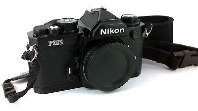 Nikon 'FM2n' Professional SLR Body/Cool Black + Strap//Cap. 'EXCELLENT+++' Cond.