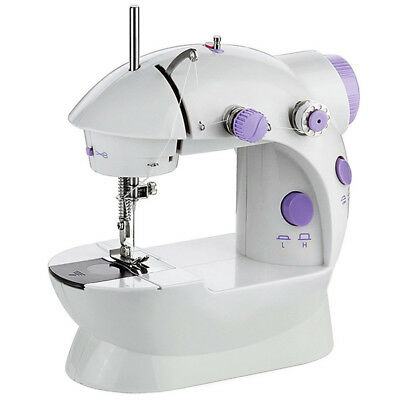 Electric Mini Multi function Sewing Machine Dual Speed Handheld Desktop With LED