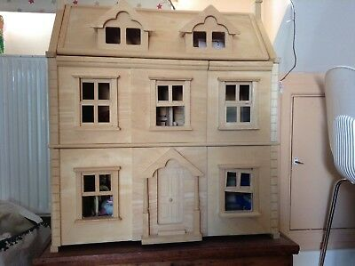 Childrens Victorian Wooden Dolls House Plan Toys Vgc 51 00