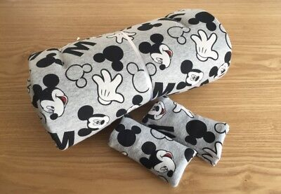 Grey Mickey Mouse Disney Seat Liner Stroller Mattress 100% High Quality Cotton