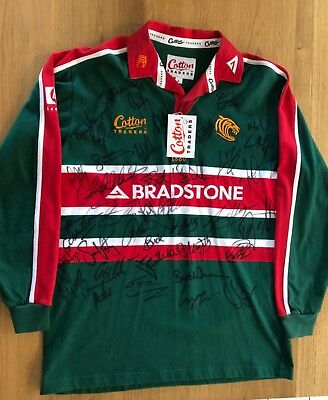 Leicester Tigers 2002 Signed Shirt - back-to-back Heineken Cup Winners!