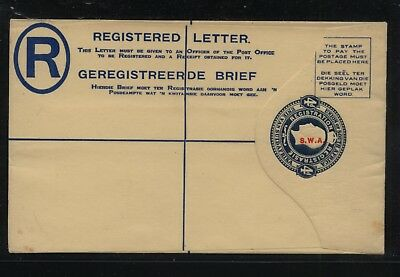 South West Africa   registered postal envelope unused     AT0520