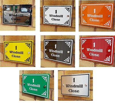 House Number or Business Address Plaques, Several Designs & Colours, Wall Sign,