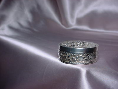 Antique Sterling Silver Round Pill Box