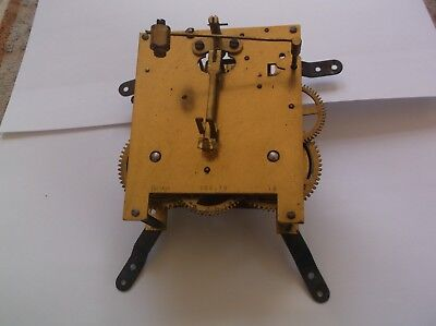 MECHANISM  FROM AN OLD  MANTLE CLOCK working order