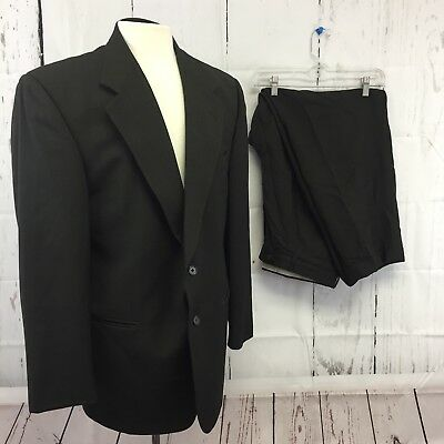 Tallia Uomo Angelos 2 Piece Suit Mens 42 R Olive Jacket Pants 35 x 29