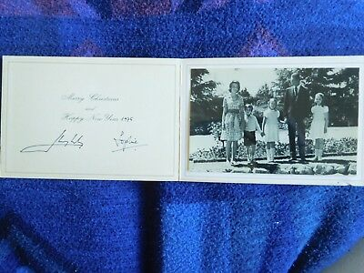 King Juan Carlos I of Spain and Queen Sofia RARE Christmas card