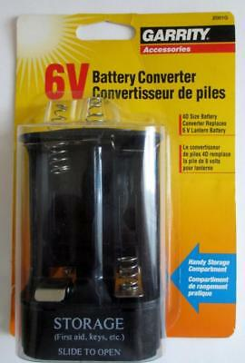 6 Volt Battery Converter With Storage Compartment Uses 4D Batts ,Lantern,Garrity