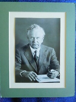 Ferdinand Porsche- rare original signed photo