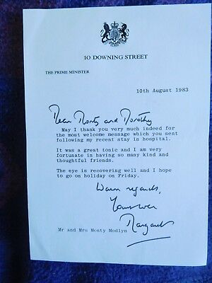 Margaret Thatcher - a really good letter signed as Prime Minister