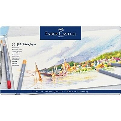 Faber-castell Creative Studio Goldfaber Aqua Watercolor Pencils - Tin Of 36 -