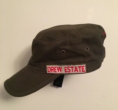 "Drew Estate Cigar Hat ""The Rebirth Of Cigars"" Military Style Adjustable Cap"