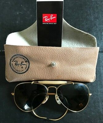 d757c41397a37 Vintage 1960 s B L Ray Ban 58 MM Wraparound Outdoorsman Aviator Sunglasses