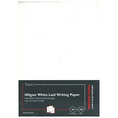 Soho Creative A4 100 Gsm White Laid Paper (pack Of 50) - 50 Pack Paperstate