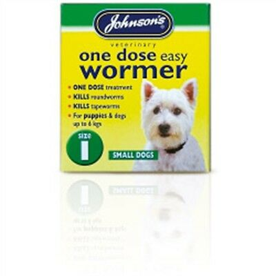 Size 1 One Dose Dogs Easy Wormer - Johnsons Tablets Dog Small