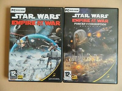 Star Wars Empire At War + Forces of Corruption Expansion Pack PC Game - Sci-Fi